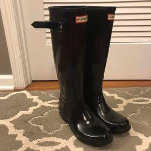 Hunter Boots - Black, size7